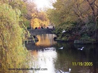 St. Stephen's Green, bridges in St. Stephen's Green, Ireland scenery, Ireland