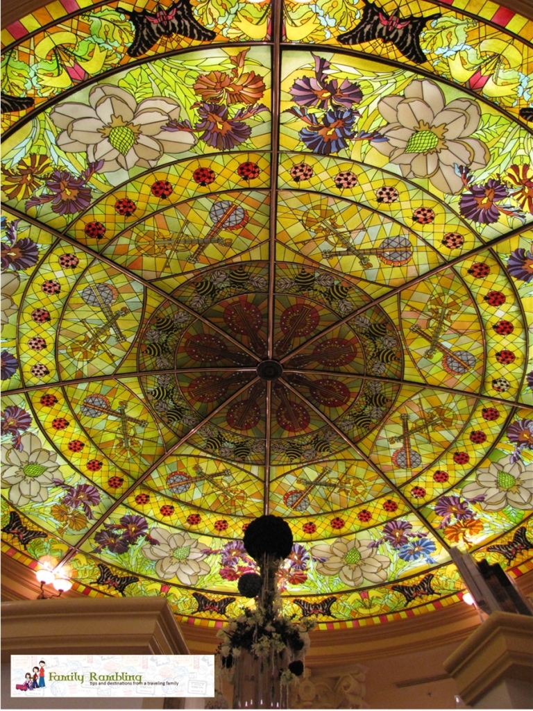Stained Glass Skylight Lobby Gaylord Opryland Hotel