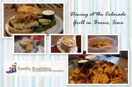 Dining at the Colorado Grill, Boone,Iowa