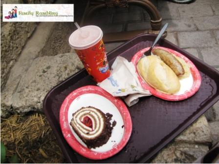 Brat with Saurkraut and Black Forest Roulade at Sommerfest, Germany, World Showcase in Epcot