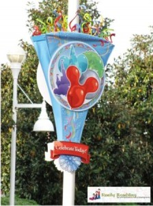 Celebrate Today, Walt Disney World banner