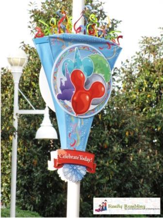Celebrate Today, Walt Disney World banner