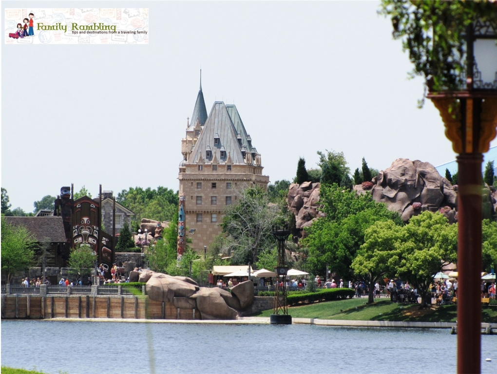 Canada, viewed from across the lake, at Epcot