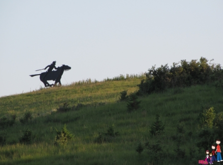 Pony Express silhouette, Hanover, Kansas