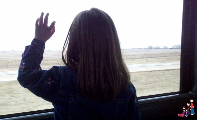 Looking Out the MegaBus Window
