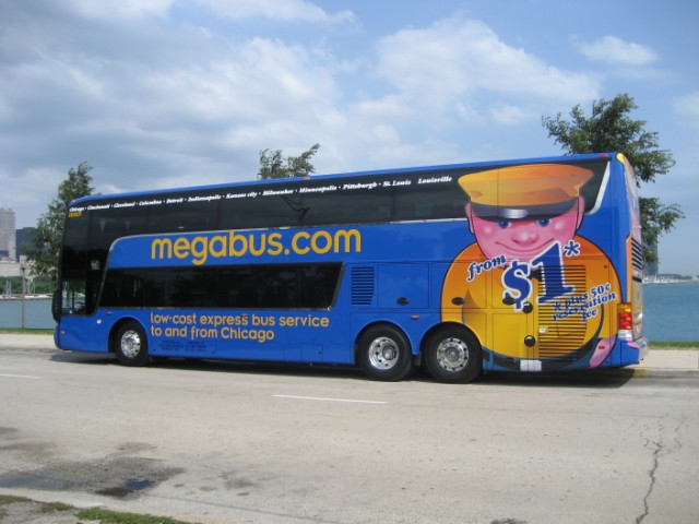 What are some money-saving tips when traveling on Megabus?
