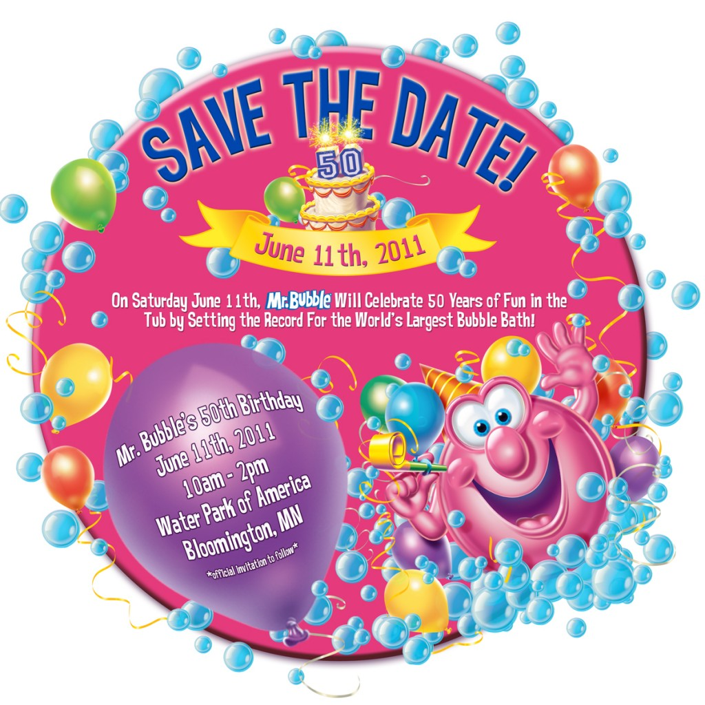 Come Celebrate Mr. Bubble's 50th Birthday Party at the Water Park of America