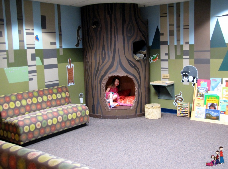 Reading area at the Iowa Children's Museum at Coral Ridge Mall near Iowa City