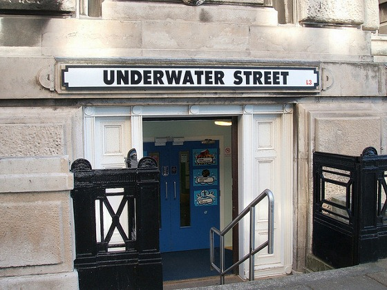 Underwater Street Liverpool UK