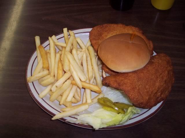Pork tenderloin at Iowa Cafe in Mesa, Arizona