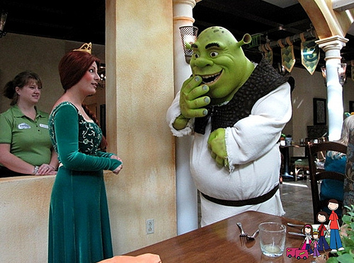 Fiona and Shrek at ShrekFeast