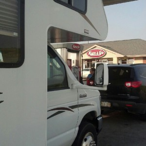 Fueling up at Kum & Go