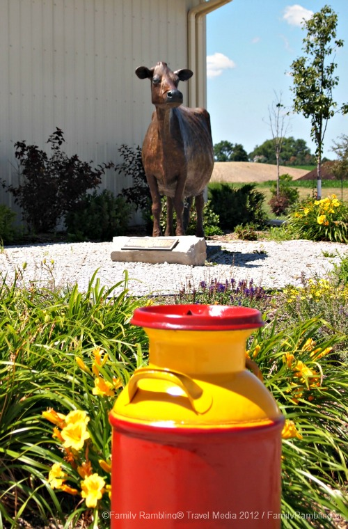 Jersey Cow Sculpture at Iowa State University Dairy