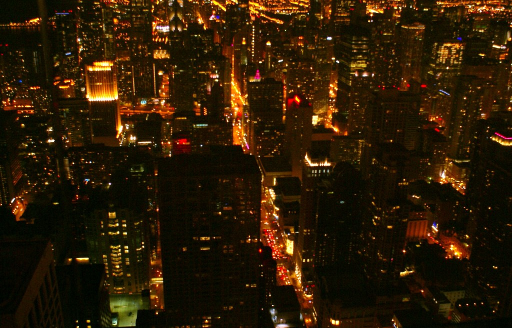 Night View from Hancock Observatory, Chicago. The best deal in Chicago! Save money and time with City Pass. Chicago travel tips