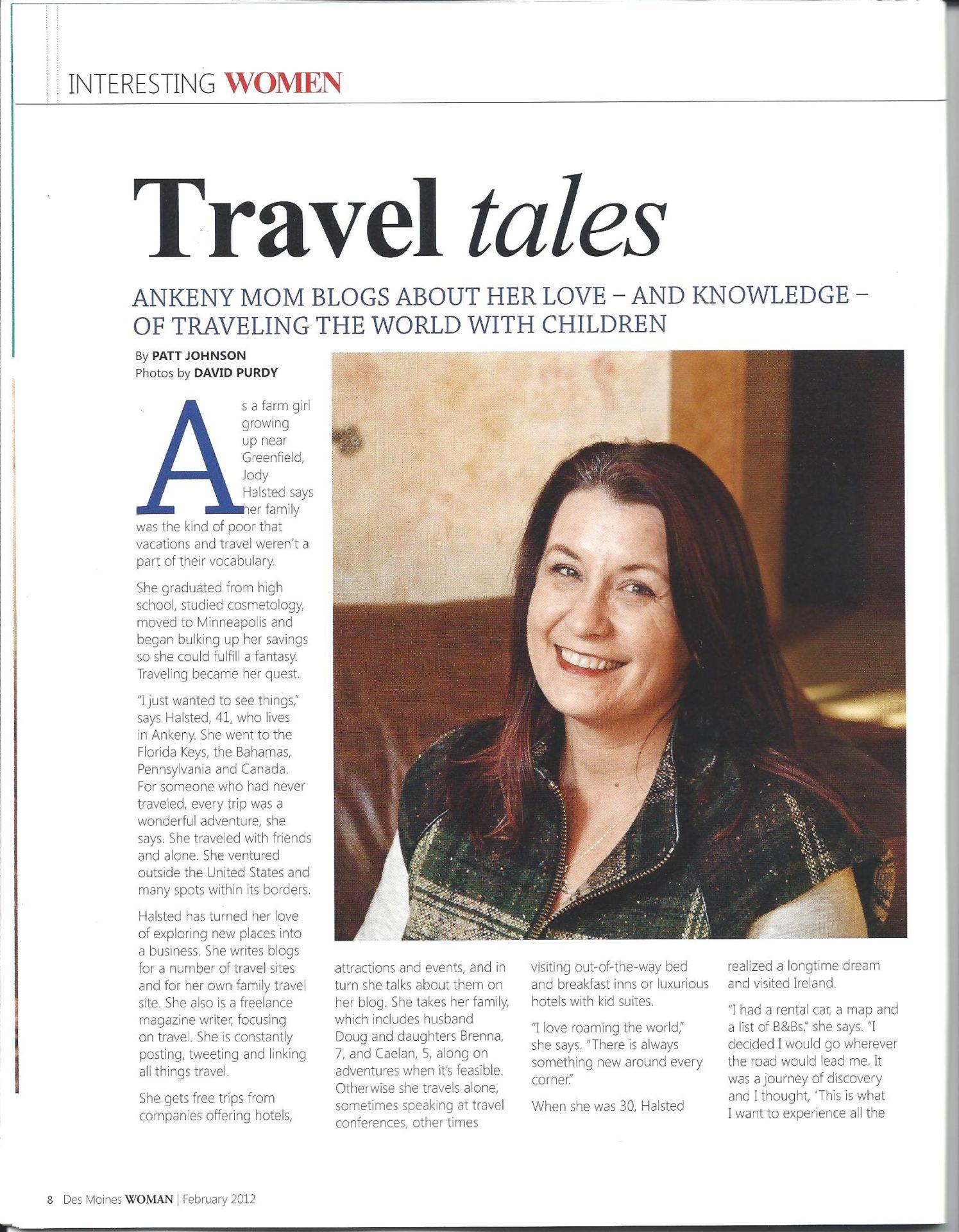 Jody Halsted Travel Writer