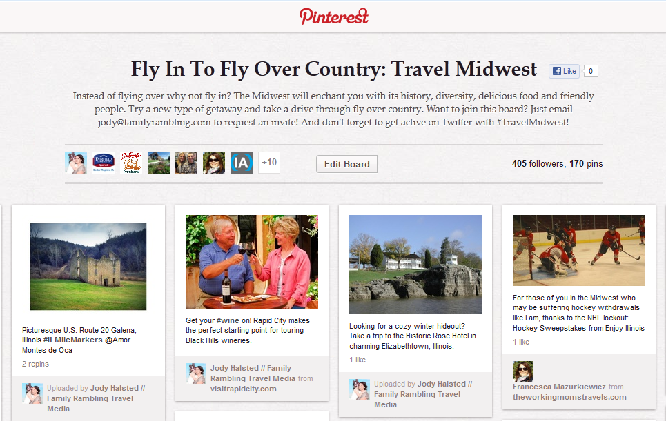 Travel Midwest Pinterest