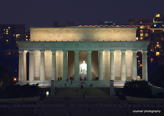 Lincoln Memorial at Night; Washington DC