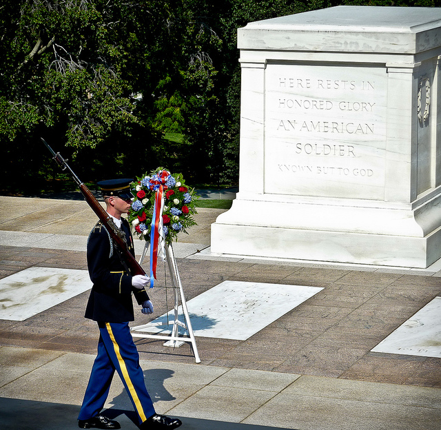 Tomb of the Unknown Soldier in Washington, DC. National Parks to visit