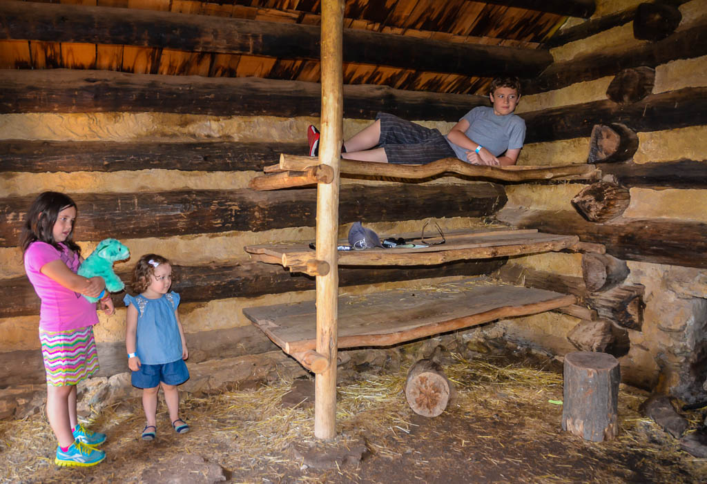 Inside Valley Forge soldier hut