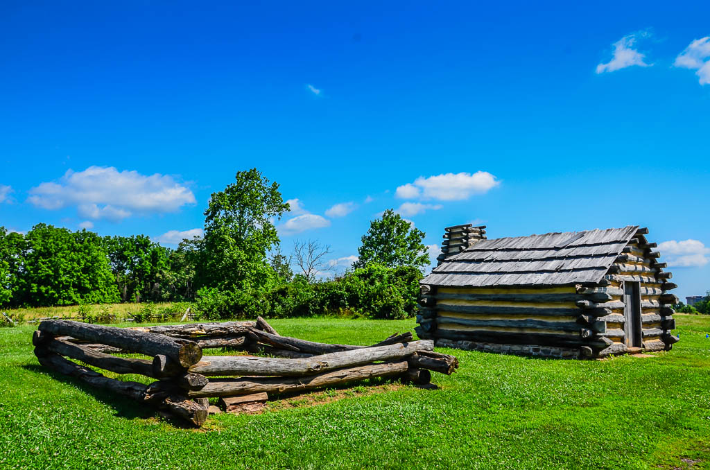 Valley Forge log hut