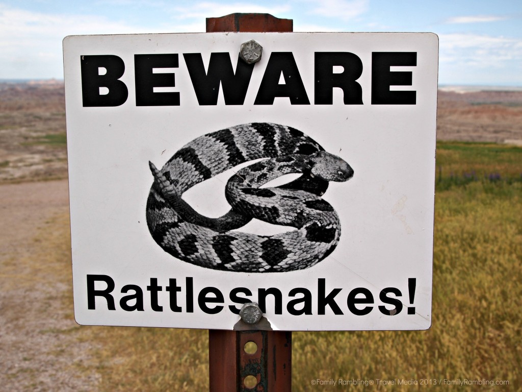 Beware Rattlesnakes, Badlands National Park, South Dakota