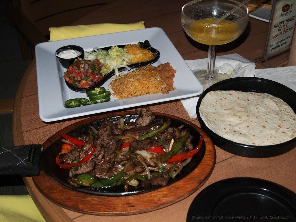 Fajitas at Margaritas Cantina, Chula Vista Resort, Wisconsin Dells