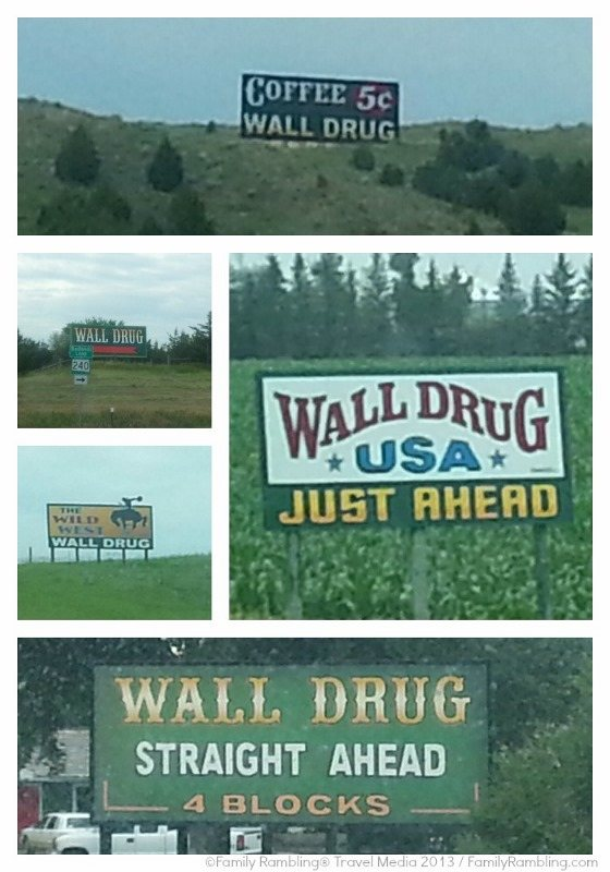 Wall Drug sign Collage