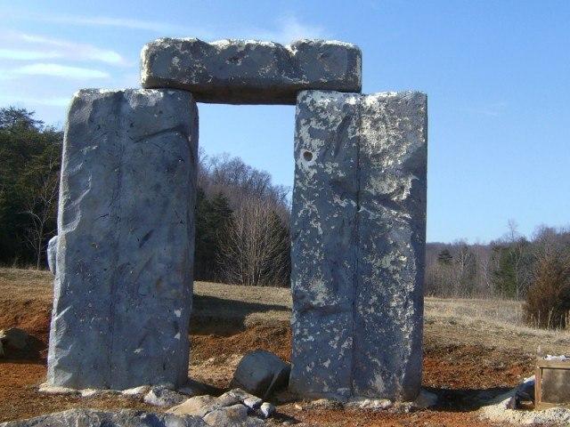 Foamhenge, Stonehenge made of foam