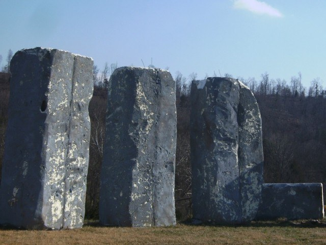 Foamhenge, a replica of Stonehenge, in Virginia