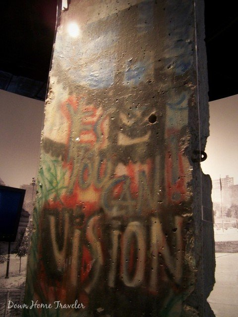 Berlin Wall at George H W Busch Presidential Library