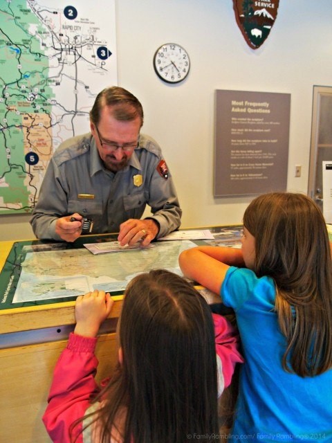Junior Ranger Badges earned at Mount Rushmore