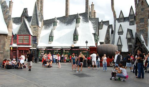 Harry Potter's Hogsmeade comes to life in Orlando, Fla.