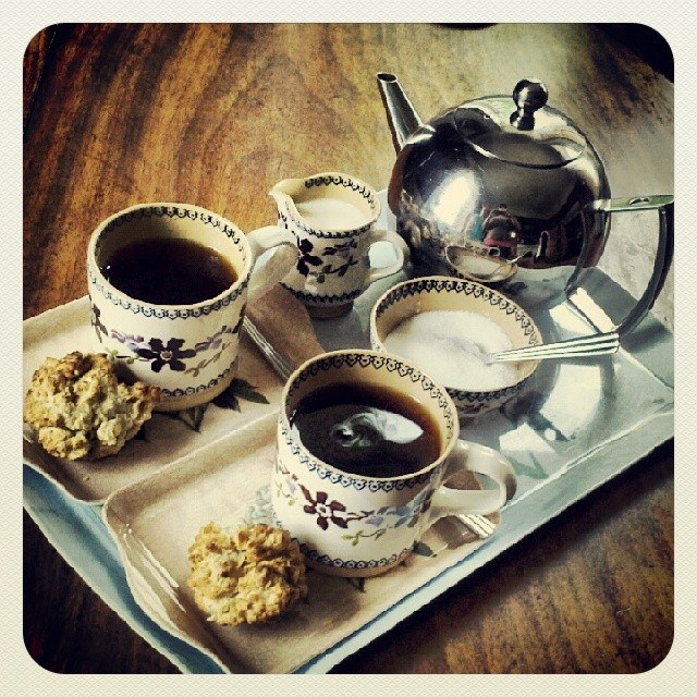 Tea at Ardmore Country House, County Offaly, Ireland