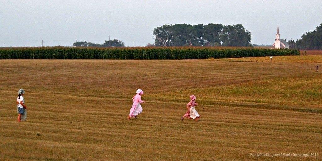 prairie girls at Ingalls Homestead, DeSmet, South Dakota