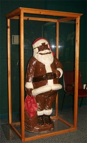 Chocolate Santa Chocolate factory tour at the Long Grove Confectionery