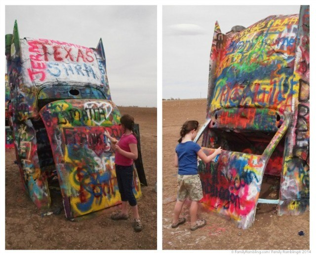 Cadillac Ranch painting