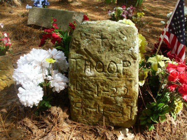 Troop- the dog that started it all at the Key Underwood Coon Dog Cemetery