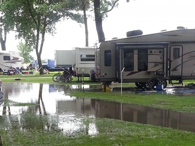 Camping in the Rain