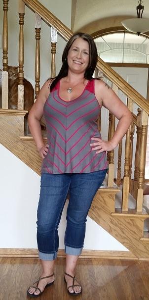 Cheryl Chevron Stripe V-Neck Tank - Stitch Fix