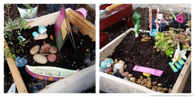 Completed fairy gardens