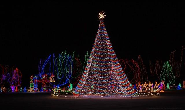Kiwanis Holiday Lights, Mankato Christmas Lights, Minnesota