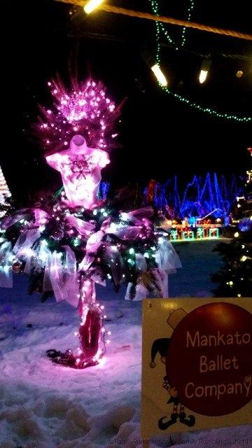 Mankato Ballet Company Tree, Kiwanis Holiday Lights, Minnesota