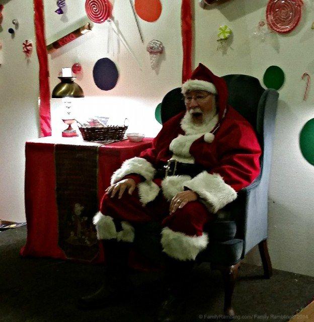 Santa at Kiwanis Holiday Lights, Mankato, MN