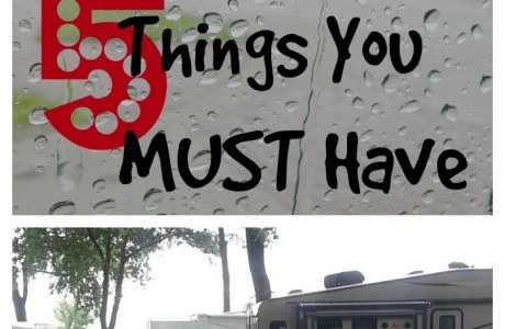 Camping in the Rain? The 5 Things You MUST Have
