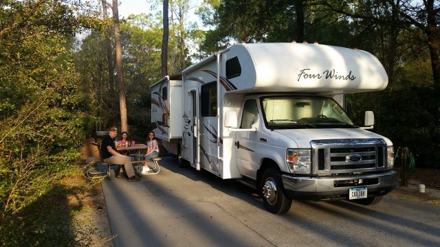 Camping at Fort Wilderness, Walt Disney World, Orlando, Florida