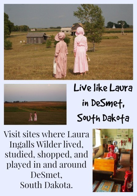 Fans of Laura Ingalls Wilder will want to visit the town of DeSmet, South Dakota. 4 of the 7 Little House books were set in DeSmet, starting with By the Shores of Silver Lake. Here you can visit (and even stay at) the Ingalls Homestead, rock the desk at the original schoolhouse, and see the Surveyor's House through Laura's eyes- and so much more!