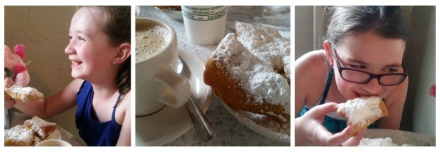 Beignets at Cafe du Monde, New Orleans, Louisiana. Did you know that you can park your RV in the French Quarter?