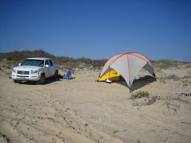 Padre Island beach camping