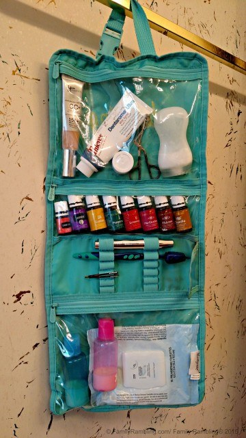 My glamping bag. My favorite beauty products for camping.