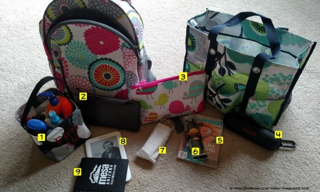 Summer Go Bag - Tween Edition. Make a 'go bag' and keep your family's summer necessities in it to get out of the house quick!